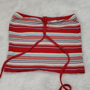 5/$25 So cute striped tube top size small